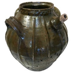 19th Century Terracotta Oil Vessel