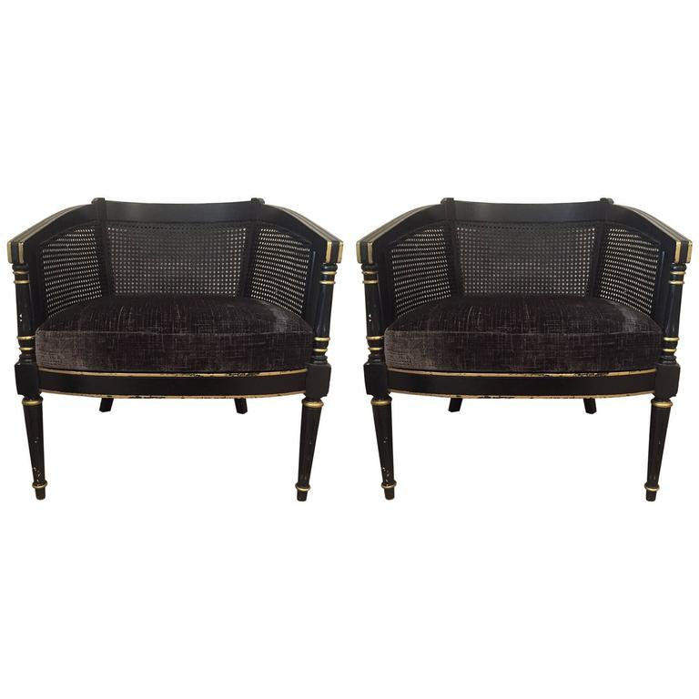 Pair of 20th Century Empire-Style Chairs