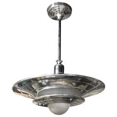 French Mid-Century Modernist Ceiling Light or Chandelier