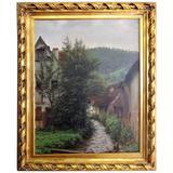 Oil Painting, Pastoral Scene, by Henrik J