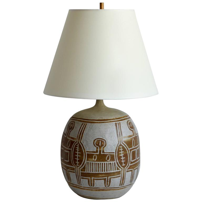 Vintage Ceramic Table Lamp, 20th Century, France For Sale