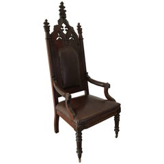 19th Century English Gothic Revival Armchair