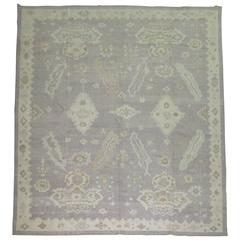 Gray Turkish Oushak Rug