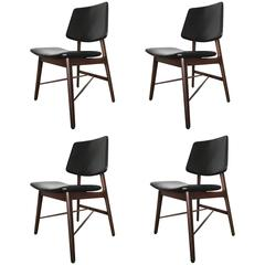 Four Rosewood Arne Vodder Dining Chairs