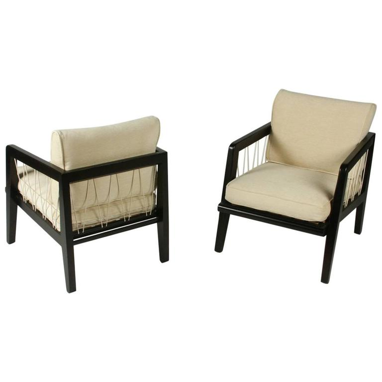 Pair of Edward Wormley Precedent Collection for Drexel Lounge Chairs For Sale