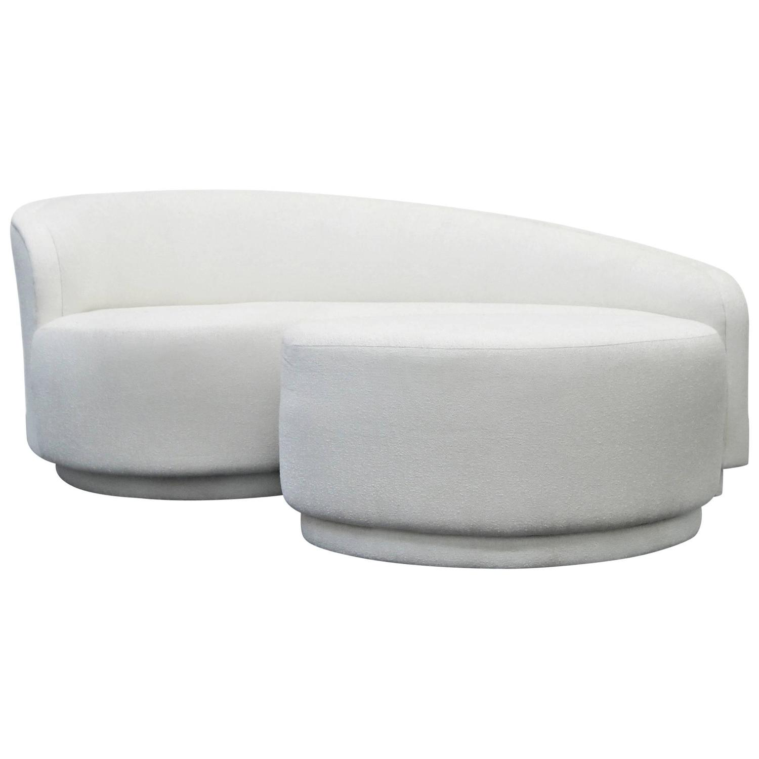 Petite Curved Sofa and Ottoman by Vladimir Kagan for Weiman at 1stdibs