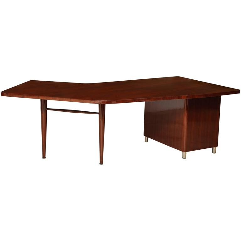 Mid-Century Stow & Davis Walnut Executive's Desk