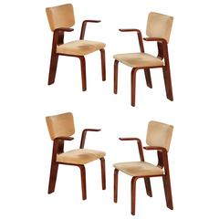 Set of Four Bentwood Modernist Armchairs