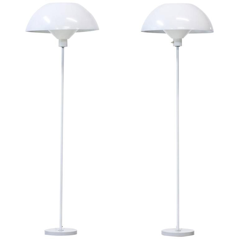 Rare Pair of Floor Lamps by Hans-Agne Jakobsson