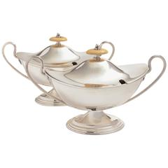 Pair of 19th Century Victorian Silver Plated Sauce Tureens