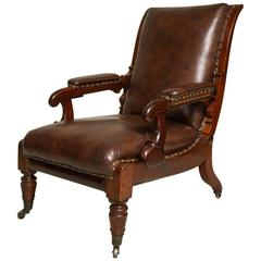 William IV Reclining Library Chair