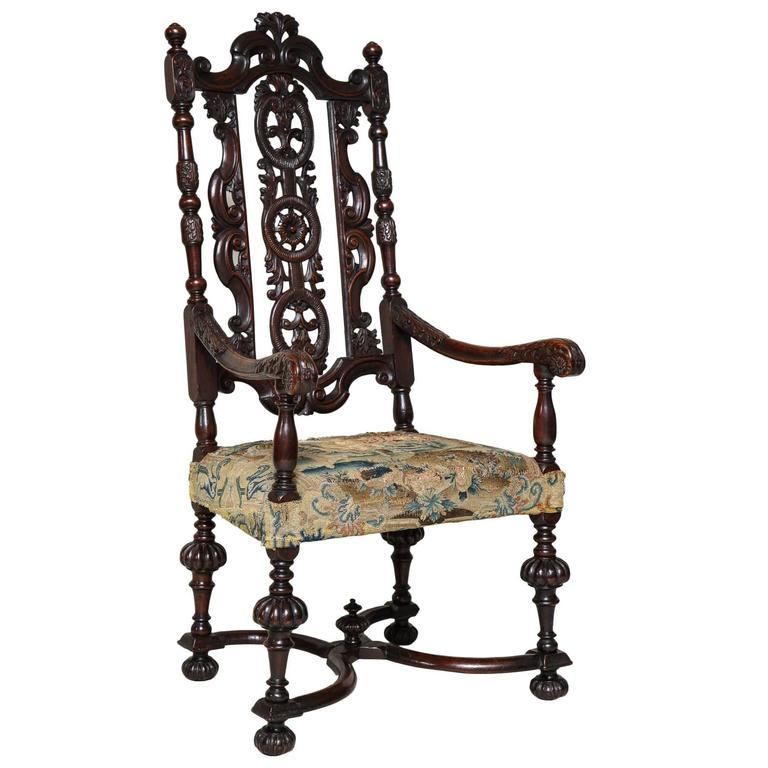 English Baroque Armchair For Sale At 1stdibs