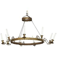 Brass Ring Candle Chandelier
