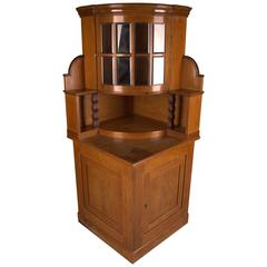 Art Nouveau Corner Showcase Cabinet from circa 1905