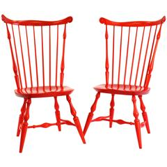 Pair of Discontinued Wakefield Side Chairs in Persimmon Stain by O&G Studio
