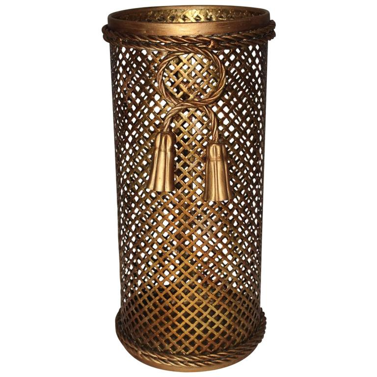 Gilded Umbrella Stand by Li Puma Firenze, 1950s