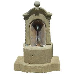 Antique Small Limestone Wall Fountain from Provence, France