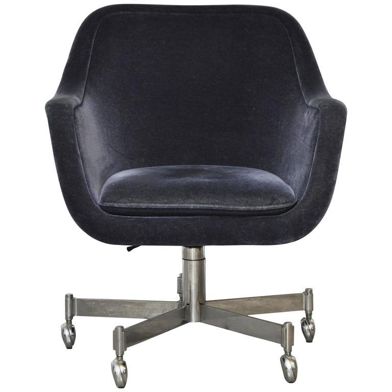 Ward Bennett Desk Chair in Mohair