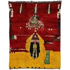 Berber Moroccan Rug with Contemporary Abstract Design