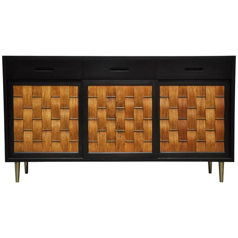 Dunbar Rosewood Woven Front Sideboard by Edward Wormley