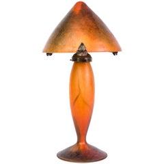 Gorgeous 1920s Art Deco Table Lamp by Schneider - Le Verre Francais