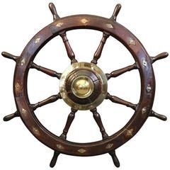 Early 19th Century Yacht Wheel