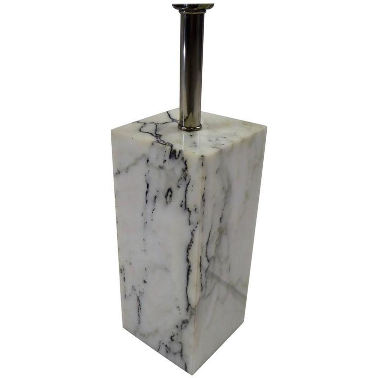 1970s Sonneman Marble Plinth Table Lamp for Kovacs For Sale