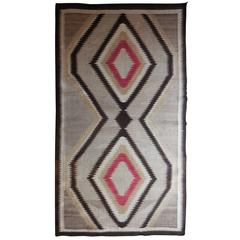 Antique Navajo Eye Dazzler Rug