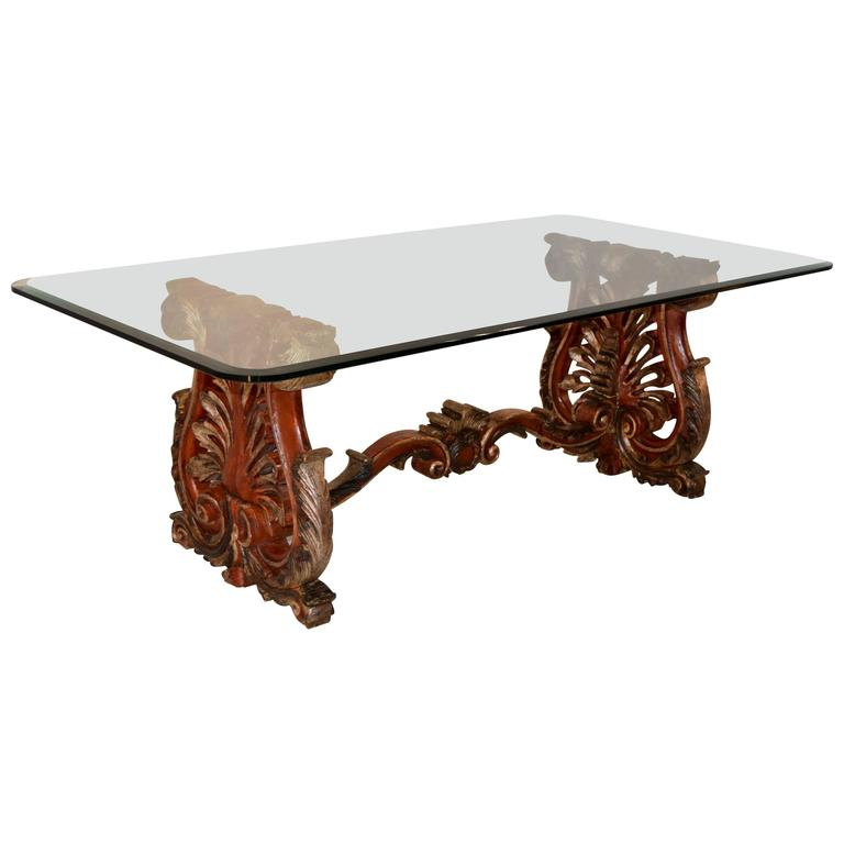 19th Century Italian Painted Coffee Table