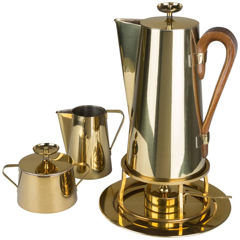 Coffee Service by Tommi Parzinger for Dorlyn Brass