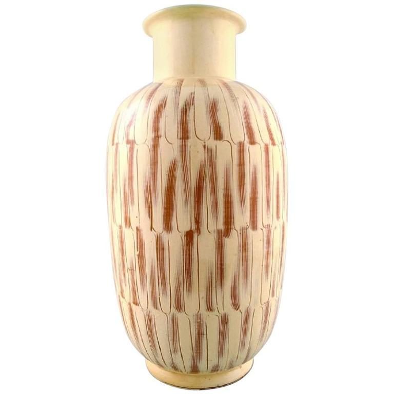 k hler denmark large glazed stoneware floor vase in modern design for sale at 1stdibs. Black Bedroom Furniture Sets. Home Design Ideas