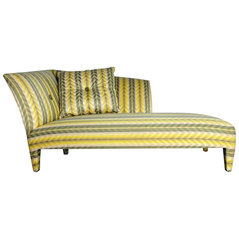 Vintage Donghia Yellow Stripe Spirit Chaise Longue by John Hutton