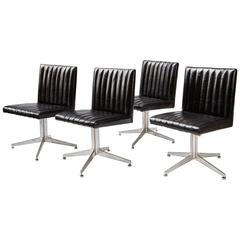 Mid-Century Modern Set of Four Swivel Chairs by Eames for Herman Miller