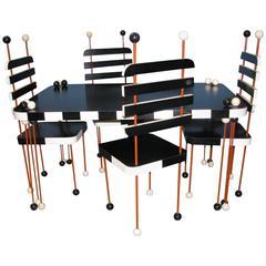 Unique Italian Modernist Five-Piece Dining Set