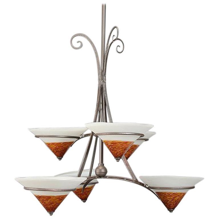 Modern Style Six-Light Chandelier