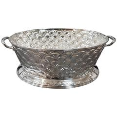 20th Century Silver Oval Basket