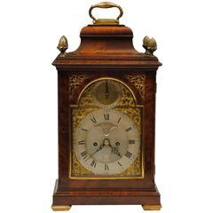 18th Century Mahogany Bracket Clock