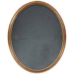Very Large 19th Century Oval Mirror