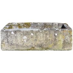Large Antique Limestone Trough with Good Weathering and Patination