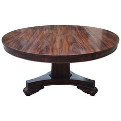 Very Fine Large Round 19th Century Goncalo Alves Breakfast Table / Centre Table