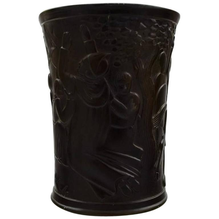 Cup or Vase, Designed by Just Andersen, Decorated with the Legend of Dannebrog
