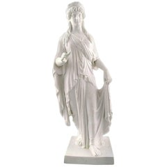 Rare Large Antique Royal Copenhagen Female Figure by Thorvaldsen