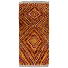 Tulu Rug with Checkered Diamond Design