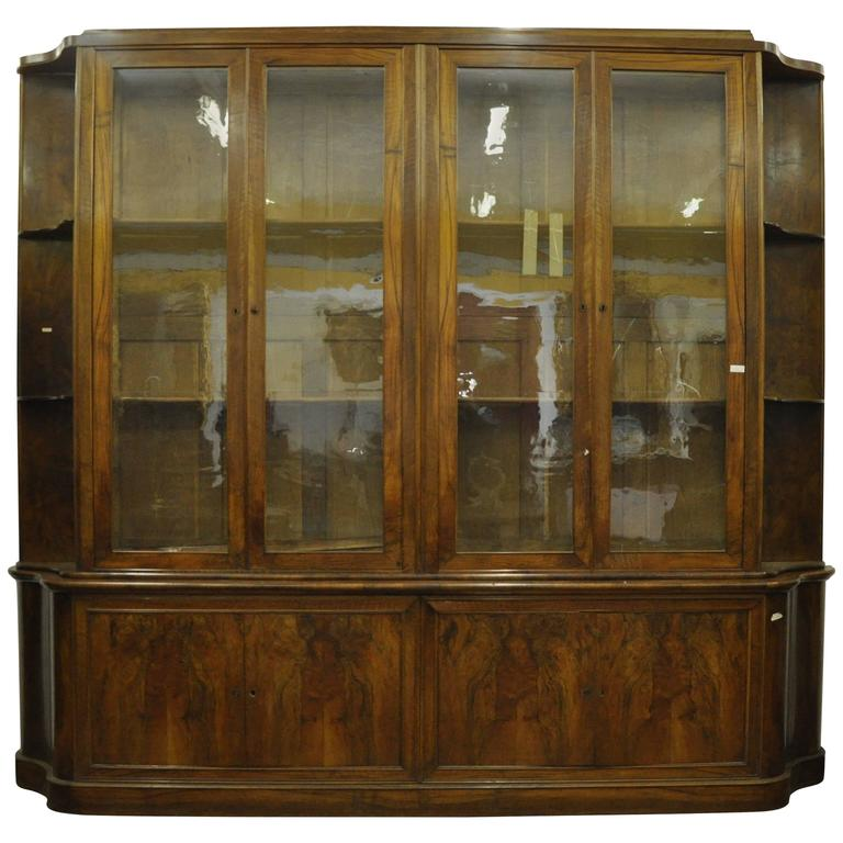 19th Century Charles X Walnut Wood French Bookcase, 1810s