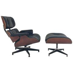 Vintage Charles and Ray Eames for Herman Miller 670 Lounge Chair & 671 Ottoman