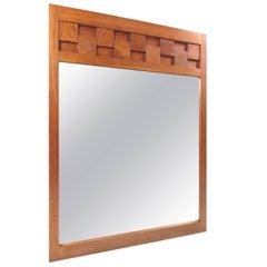 Lane Brutalist Style Oak Frame Mirror