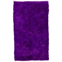 Solid Purple Color Vintage Tulu Rug
