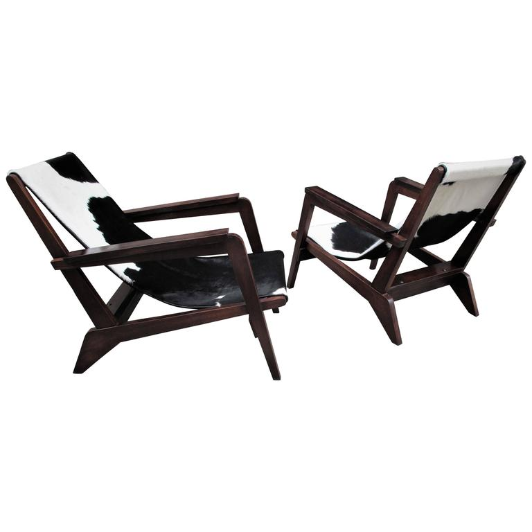 Pierre Jeanneret Style of Armchairs Design 1940 Grenoble 1