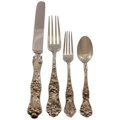 American Beauty by Shiebler Sterling Silver Flatware Set 8 Service 90 Pcs Dinner