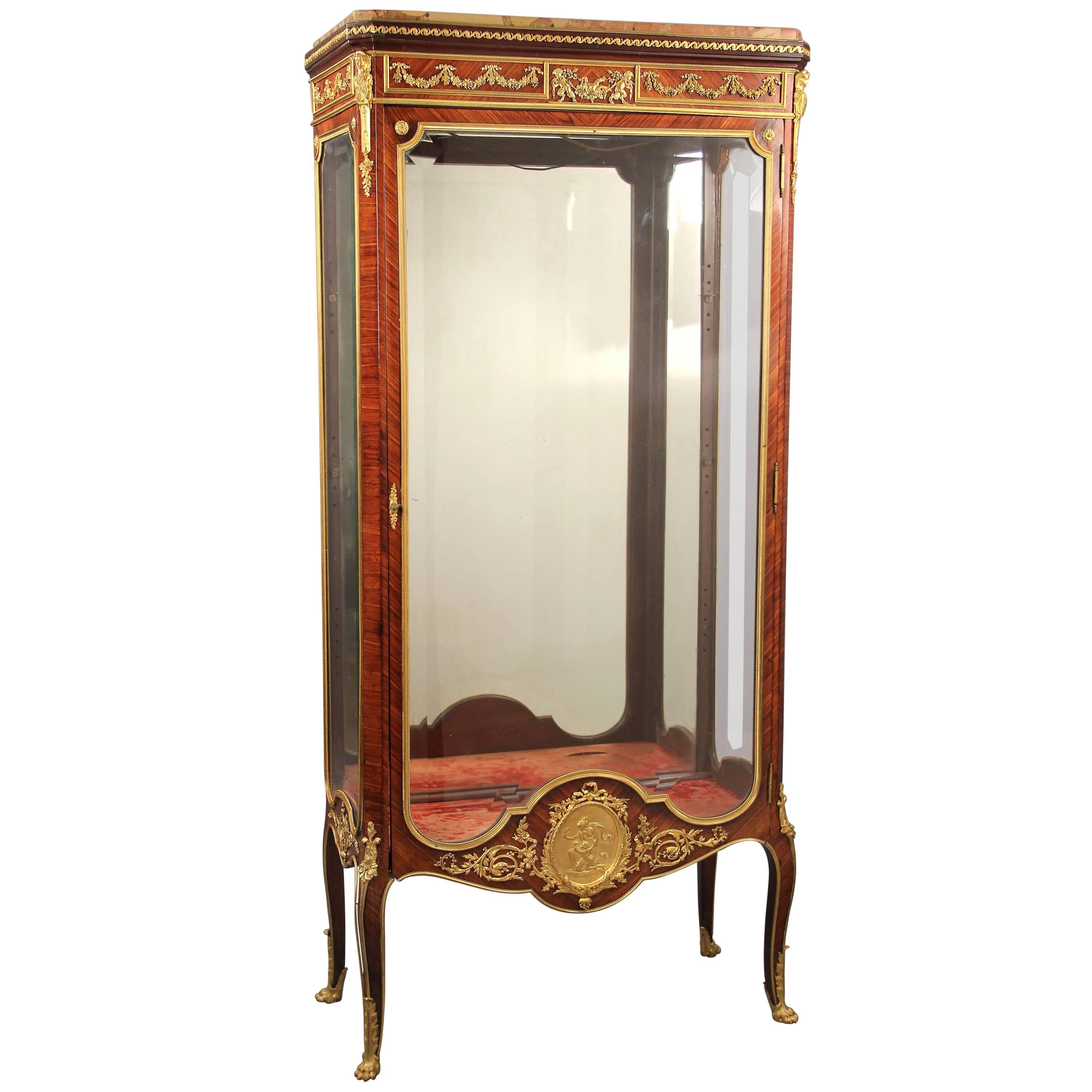 Great Quality Late 19th Century Gilt Bronze Mounted Vitrine by François Linke